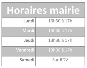 Horaires mairie simple